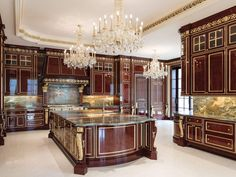The most wildly extravagant homes people built around the world Luxury Kitchens, Cool Kitchens, Mansion Kitchen, Florida Mansion, Extravagant Homes, Dream Mansion, Palace Of Versailles, Le Palais, Palais Royal