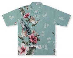 Hilo Hattie Mint Green Shirt http://www.alohashirtshop.com/products/2428/paradise-bay-by-hilo-hattie-hibiscus-paradise-mens-shirt.php