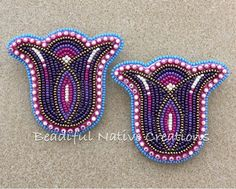 I love these! #beadifulnativecreations #beadedearrings #nativebeadwork