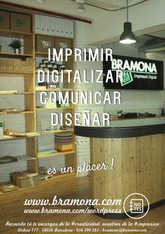 Algo más que una #copisteria en el centro de #Barcelona…  Recuerda tú te encargas de la #creatividad, nosotros de la #impresion www.bramona.com www.bramona.com/wordpress (#ideas para #personalizar tu día a día…)