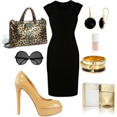 I have yellow pumps already. Now, to find a hot black dress like this...
