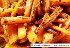 Fűszeres sült répa- és zellercsíkok