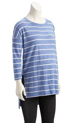 c05c341bdfda9c NWT Old Navy Maternity Blue Striped 3 4 Sleeve Hi-Lo Tee Top size