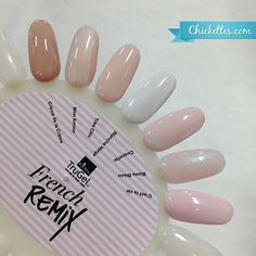 TruGel French Remix Collection - 3 nudes, 3 pinks, 1 bright white
