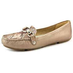 AK Anne Klein Womens Myles Leather SlipOn Loafer Taupe 75 M US -- Read more at the affiliate link Amazon.com on image.