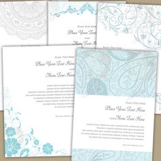 Page Border Designs 5 x 7 Page Size Vintage Retro Decorative Teal Turquoise DIY Wedding Invitations Design Digital Instant Download 10177 by MayPLDigitalArt on Etsy https://www.etsy.com/listing/163864091/page-border-designs-5-x-7-page-size
