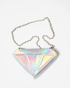 Motel Diamond Shoulder Bag in Iridescent, TopShop, ASOS, House of Fraser, Nasty gal