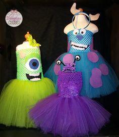 Disney Pixar Monsters Inc Inspired Tutu Costumes 6M - 2T