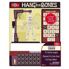 T.S. Shure Hang Em Bones Wooden Magnetic Hangman Game