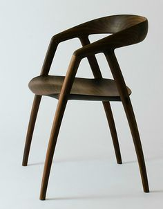 Børge Mogensen Style Wood and Raw Leather Easy Arm Chairs: Amsterdam Modern ($500-5000) - Svpply