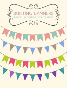 Download these bunting banners to use for your party printables, blog banners or scrapbooking designs. I've made a free stock vector file as well, so you can edit the colors of the clip art yourselves. Don't forget to subscribe to our newsletter to get the latest updates and grab the newest freebies as soon as they are released!