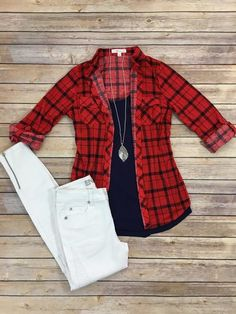 Take A Backroad Plaid-Red