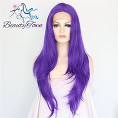 Purple Color Glueless Heat Resistant people hairline high density Handmade lace part Masquerade party Synthetic Lace Front Wig-in Synthetic Wigs from Hair Extensions & Wigs on Aliexpress.com | Alibaba Group