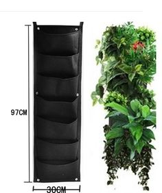 Create a beautiful vertical garden, or an entire green wall with our Delectable Garden 7 pocket planters. These planters are made with recycled PET plastic bottles, so they're eco-friendly as well! Ea