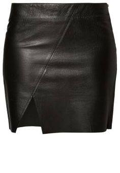 Lot78 Falda De Cuero Negro vestidos y faldas negro Lot78 falda cuero CentralModa.eu