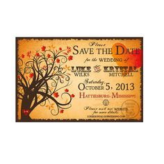 Enchanted Forest Fall Save the Date Printable by HydraulicGraphix