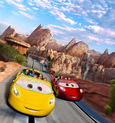 Exclusive First Look: Photo-Realistic Image of Radiator Springs Racers at Disney California Adventure Park