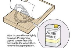 Transfer patterns with lacquer thinner