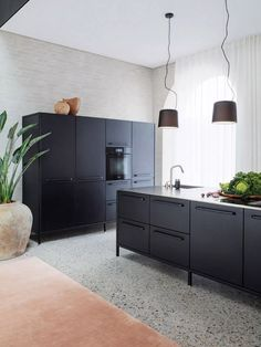 Vipp added a new addition to their hotel chain. Vipp Chimney House is a stylish new hotel in Copenhagen New Furniture, House, Black Kitchens, Interior, Hotel, Modern House, Home Decor, Large Open Plan Kitchens, Contemporary Hotel