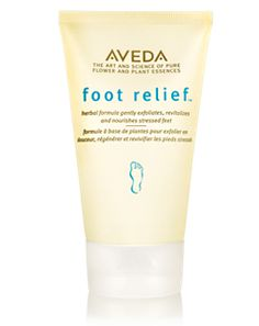 Aveda Foot Relief™ - If your feet have it rough, treat them to a soothing creme blended with active herbs, exfoliating fruit acids and plant-derived oils like jojoba and castor. Even tough, stressed feet are smoothed, cooled and moisture-charged.