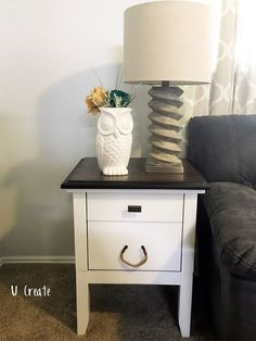 End table makeover by U Create