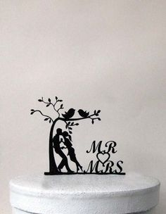 Hey, I found this really awesome Etsy listing at https://www.etsy.com/listing/235519268/wedding-cake-topper-a-couple-under-a