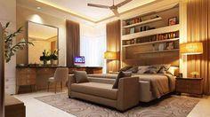 Master bedroom Design by kurk interiors