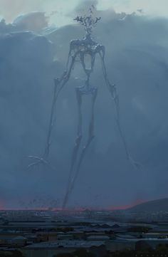 Alex Konstad Digital Painting Hell of a Story The Appearance - Fantasy Dark Fantasy Art, Fantasy Kunst, Fantasy Artwork, Monster Art, Fantasy Monster, Monster Concept Art, Dark Creatures, Mythical Creatures, Arte Horror