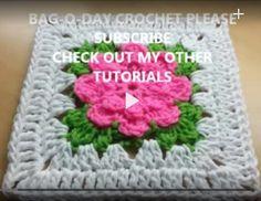 #Crochet rose granny square #TUTORIAL