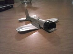 How to make an airplane from an aluminum can Instructable.