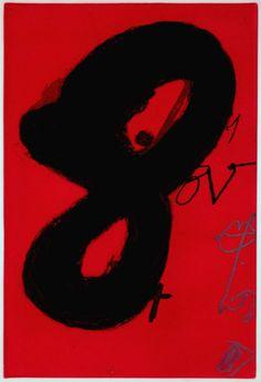 Antoni Tàpies: Repliquer III, Colour etching with carborundum, 1981