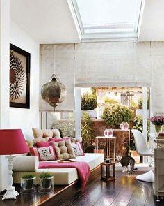Boho inspired lounge room.