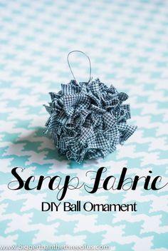 Ornament Tutorial for a Scrap Fabric Ball Ornament