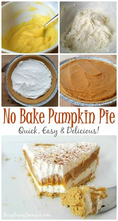 Quick and Easy! The whole Family will love this No Bake Pumpkin Pie Recipe!