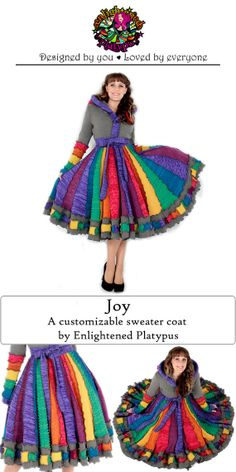 Joy - Colorful Custom Sweater Coat