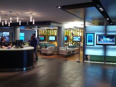 University of Michigan uses digital signage throughout their student union - I like the frosted half-glass application for PDR Cafeteria Design, Interior Ideas, Interior Design, University Of Michigan, Digital Signage, Commercial Design, Dining Area, Interior Architecture, Cool Photos