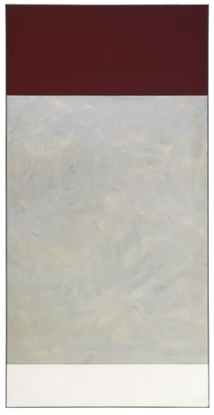 Charles Gagnon b.1934 - d.2003 CHAMP MARRON oil on canvas 80 by 40 in. 203.2 by 101.6 cm 1965-6