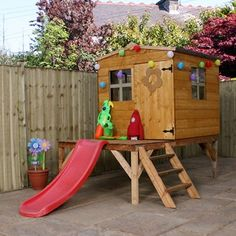 Find Mercia Junior Tower Playhouse With Slide at Homebase. Visit your local store for the widest range of garden products. Playhouse With Slide, Garden Playhouse, Playhouse Ideas, Outdoor Toys, Outdoor Decor, Wendy House, Garden Buildings, Play Houses, Tree Houses