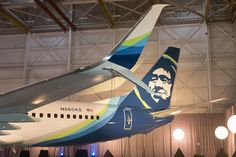 Alaska Airlines Boeing 737-890 N563AS displaying a major branding update in the company hangar at Anchorage-Ted Stevens International, January 2016. (Photo: Brandon Farris)