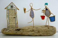 Petits marins - figurines en ficelle et papier : Accessoires de maison par ficelleetpapier