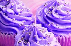 """I guess these are supposed to be """"wedding"""" cupcakes but I really think they would be great for a little girls birthday party! Salmon colored frosted cupcakes with silver edible glitter dust & silver edible balls Cupcakes Lindos, Sparkly Cupcakes, Purple Cupcakes, Pretty Cupcakes, Yummy Cupcakes, Wedding Cupcakes, Cupcake Cookies, Silver Cupcakes, Glitter Cupcakes"""