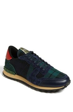 Valentino Camouflage Sneaker (Men) available at #Nordstrom