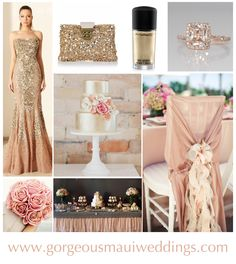 Blush & Gold Maui Wedding Inspiration   Gorgeous Maui Weddings