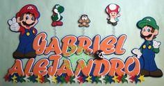 Mario Bross y sus amigos...=) Baby Shower, Mario Bros, Super Mario, 2d, Names, Friends, Crafts, Character, Ideas
