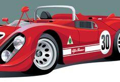 Alfa Romeo Tipo 33/3 poster by Arthur Schening