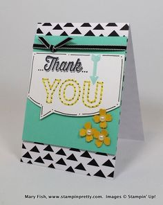 Stampin' Up! ... handcrafted thank you card ... stitched YOU  ... fresh look ...