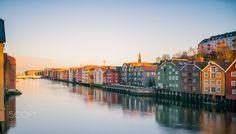 Trondheim from Gamlebybro - null