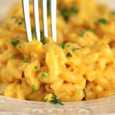 Baked Mac and Cheese is the ultimate comfort food! It is perfect for a pot luck, dinner party, barbecue or just as a great easy side dish! Creamy, cheesy and only takes 20 minutes to pull together this delicious weeknight dinner! I Love Food, Good Food, Yummy Food, Tasty Videos, Food Videos, Recipe Videos, Cooking Recipes, Healthy Recipes, Healthy Soup