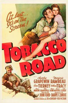 Twentieth Century Fox Movie Posters | Movie Posters:Drama, Tobacco Road (20th Century Fox, 1941). One Sheet ...