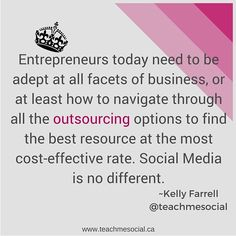 Being a small business owner or entrepreneur doesn't have to mean doing everything yourself! It takes a village to raise a child and a successful business! Take time to learn about your options for outsourcing jobs to specialists; jobs that you 'could' do